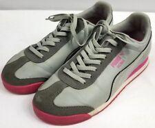 Puma Lifestyle Roma Basic sz 6 Womens Gray Silver Pink Shoes Sneakers 2b359dcb0