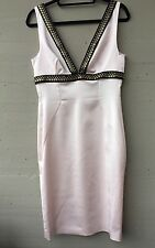 NWT Just Cavalli Dress Light Pink Black Trim & Gold Snaps Knee-length Sz 44 US 8