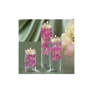 Glass Cylinder Tealight Holder Qty 3 Home Decor Wedding Candle Centerpiece