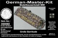 350060, Ladegut, 1:35, Große Straßensperre, Barrikade, Resin, WWII, GMK World