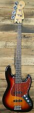 New! Squier by Fender Vintage Modified Jazz 4 St. Bass Guitar -3 Tone Sunburst