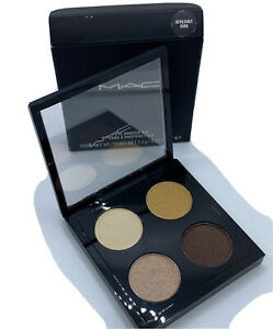 Mac Eyeshadow x 4 (Devilishly Dark) Quad Palette 0.19 oz/5.6g NEW IN BOX
