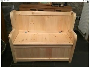 New Large Church pew / Monks Bench / Settle Heavy Duty Shoe Storage Seat Box