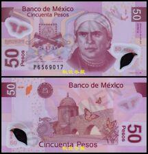 Mexico 50 Pesos (2011), Serie U, Sign.11:Legaspi-Rabiela, RARE, Polymer, UNC