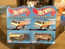Hot Wheels RLC 2003 Super Chromes Ferrari P4 & Holiday Beach Bomb too MOC