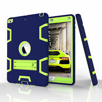 Hard Hybrid PC+TPU Silicone Stand Shockproof Plastic Case For New iPad 9.7 2017