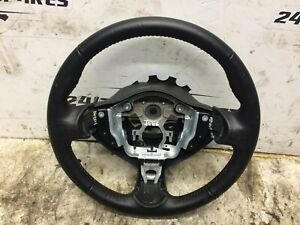NISSAN JUKE 2015 LEATHER STEERING WHEEL Red Stitching