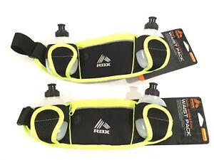 Running Hydration Belt Waist Bag - 2 Water Bottle Dual Pack SET OF 2