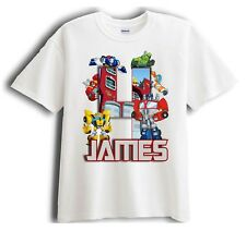 Transformer Rescue Bots Personalized - Birthday T-Shirt Party Favor