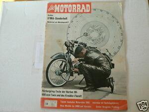 MOTORRAD 1960-18 IFMA SONDERHEFT,TEST KREIDLER FLORETT,NORTON 99 600 CC,BMW,WIMA