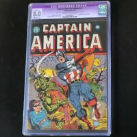 Captain America Comics #17 (Timely 1942) 💥 CGC 8.0 Restored 💥 Golden Age Comic