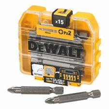 DeWALT PZ2 Screwdriver Bits 50mm x15 Pcs Pozi Bit Set Cross Screw Driver Steel