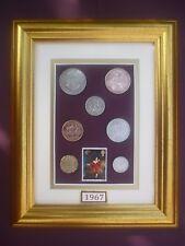 Incorniciato 1967 British VECCHIA MONETAZIONE Set 51st regalo di compleanno nel 2018