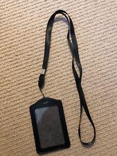 Ex Police Black ID Badhe Holder with Lanyard. New. 995.