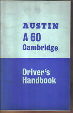 Austin A60 Cambridge Saloon & Countryman Drivers Handbook 1622cc 1968 AKD 3909