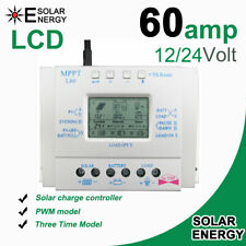 60A MPPT Solar Panel Regulator Charge Controller 12V/24V Auto Work LCD USB