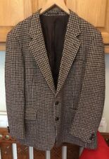 Vintage Marks & Spencer's Harris Tweed Dog tooth Wool Blazer Jacket Coat 44""