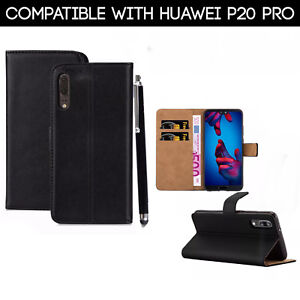 For Huawei P20 Pro Phone Case Luxury Pu Leather Magnetic Flip Wallet Stand Cover