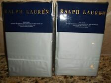 New Ralph Lauren 2 European Shams- RL 624 Solid Sateen Antique Jade 26X26""