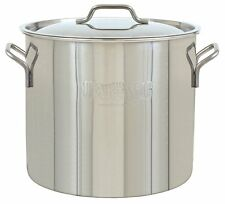 Bayou Classic 40-Qt. Brew Kettle Stockpot & Lid Economy Stainless 1440 New