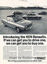 1974 Renault 17 Gordini 15 12 Original Advertisement Print Art Car Ad J819