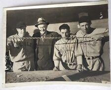 1937 Joe Dimaggio, Ty Cobb , Lefty O'doul, Dom Dimaggio Type 3 Wirephoto