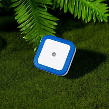 Blue Auto LED Induction Sensor Control Bedroom Night Light Bed Lamp EU Plug
