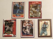 Major League Baseball Cards  Lot Of 5 Cards & Sleeves From Years Of 1988 To 2004