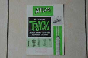 VINTAGE - CATALOGUE TRAINS HO - ATLAS 1962