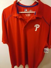 MLB Philadelphia Phillies Polo Shirt Size X-Large