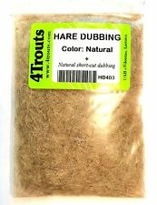 SALE! 100% HARE DUBBING 4Trouts NATURAL COLOR for fly tying nymph and wet flies