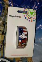 Disney Parks MICKEY MOUSE USA FLAG Red Magic Band Magicband 2 New Americana