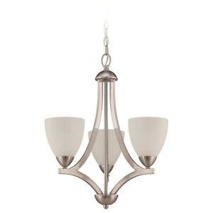 Craftmade Hartford 3 Light Chandelier, Satin Nickel - 37723-SN