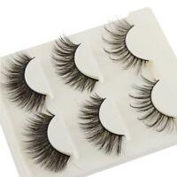 3 Pairs SKONHED 3D Faux Mink Hair False Eyelashes Thick Long Extension Makeup