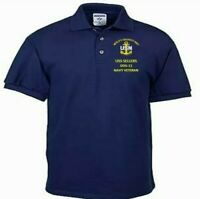 USS SELLERS  DDG-11  NAVY ANCHOR  EMBROIDERED LIGHT WEIGHT POLO SHIRT