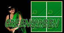Greenbox - Greenscreen - Bühnenmolton Meterware B1 nach DIN 4102 - 300gr/m²