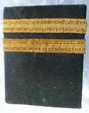 Vintage 2 Straight Bars Shoulder Board Rank Custom Pilot Captain Epaulette- USED