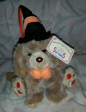 Vintage Adorable Soft Things Plush Stuffed Halloween Puppy Dog Witch Hat