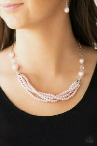 PAPARAZZI ONE - WOMAN SHOW - PINK PEARLS - NECKLACE