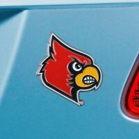 Louisville Cardinals Heavy Duty Metal 3-D Color Auto Emblem