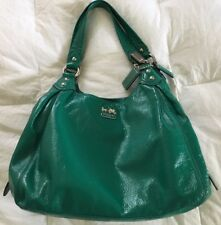 COACH MADISON JADE PATENT LEATHER MAGGIE SHOULDER BAG HOBO PURSE 14331