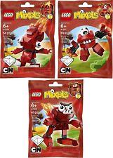 LEGO Mixels rot infernite  Flain 41500 Vulk 41501 Zorch 41502 sehr selten