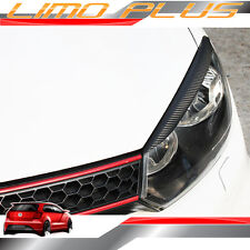 VW GOLF Mk6 6 GTI GT R-Line Wagon Carbon Fiber Head Light Eyelid Trims vw87
