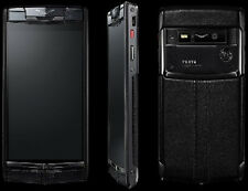 ORIGINAL Vertu Signature Touch PURE JET BLACK Full Set Android Smartphone Neuwe.