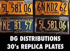 replica VINTAGE california license plate 1934 1935 1936 1937 1938 1939