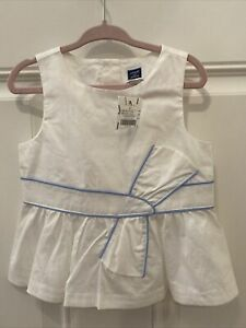 Janie & Jack White Blue Top Tunic size 3T 3 Easter NWT 2015