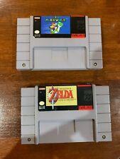 Snes Lot - Super Mario World - Zelda A Link To The Past - Super Nintento