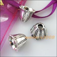 6 New Connectors Cone Speaker Tibetan Silver End Bead Caps 12mm