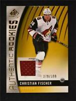 2017-18 Upper Deck SP Game Used Gold Jersey Rookies #180 Christian Fischer