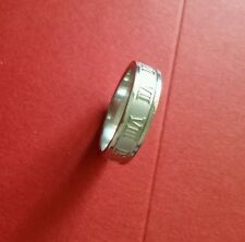 **NEW** ROMAN NUMERIALS STAINLESS STEEL RING SIZE 7 1/2
